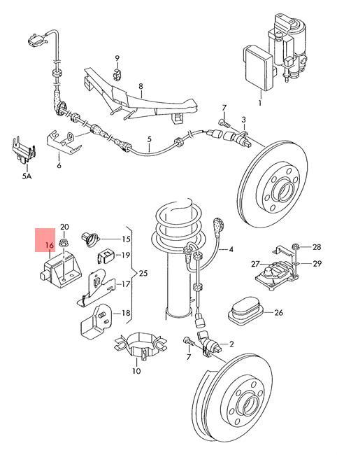 Genuine Yaw Rate Sensor AUDI VW A3 S3 Sportback 7H0907655A