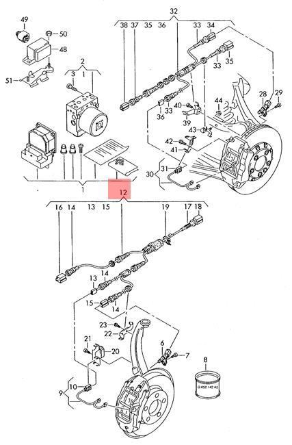 Genuine VW AUDI Touareg Q7 Wiring Harness For Anti Lock
