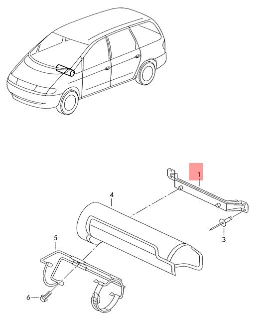 Genuine Support Plate VW SEAT Sharan Syncro 4Motion