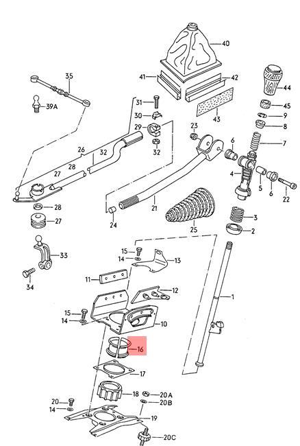Genuine Mounting For Ball Socket AUDI VW 100 Avant Quattro