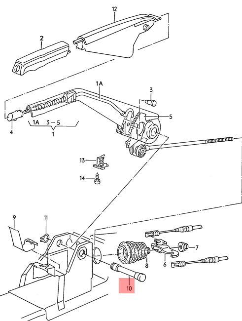 Genuine Bearing Pin AUDI 100 Avant Quattro 200 80 90 Rs2