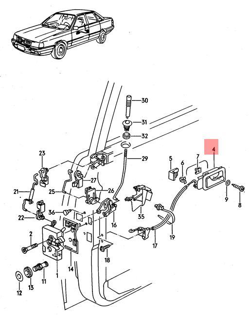 Genuine Inner Actuator AUDI 100 Avant Quattro 200 80 90
