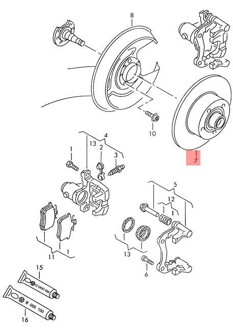 Genuine Brake disc VW AUDI Passat Syncro Audi A4 S4 Wagon