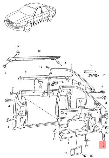 Genuine Wedge Adjuster AUDI A3 S3 Sportback Lim. Quattro