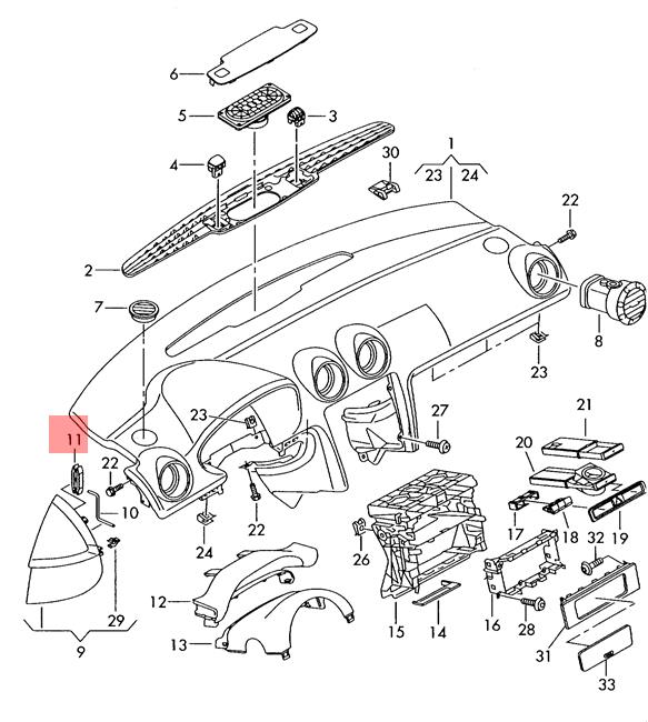 Genuine Assembly Tool For Blade Fuse AUDI VW Audi 100