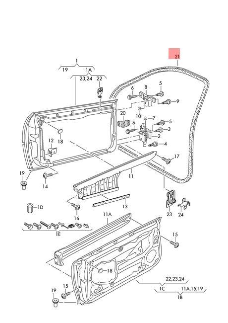 Genuine Door Seal Inner AUDI A3 S3 Sportback 8P4831721C6V9