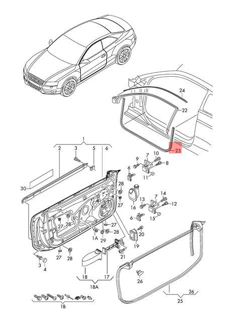 Genuine Door Seal Inner Lower AUDI A5 S5 Coupe Sportback