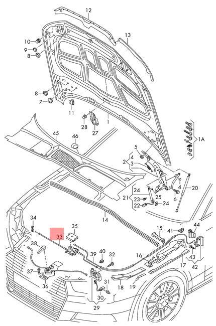 Genuine Bowden Cable Center AUDI A4 Avant S4 Quattro