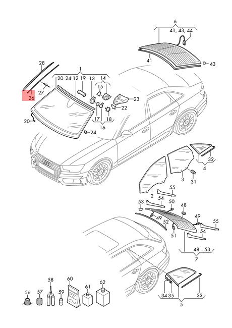 Genuine Clamp Strip Right AUDI A4 Avant S4 Quattro