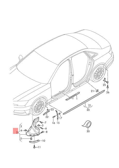 Genuine Wheel Spoiler Left AUDI A4 Avant S4 Quattro