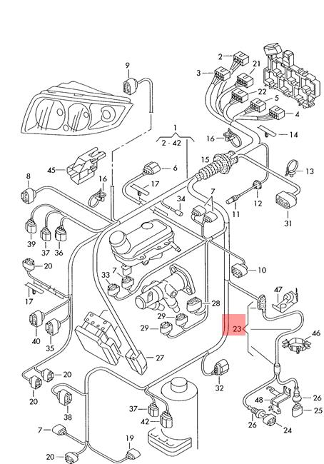 Genuine AUDI A2 Wiring Harness For Speed Sensor Left