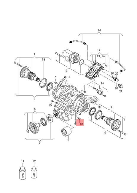 Genuine Seal bolt combination AUDI VW Audi A3 Cabriolet