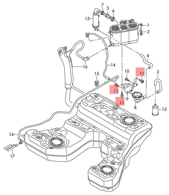 Genuine SKODA AUDI Fabia Oval Head Panel Screw B4 8X16 x10