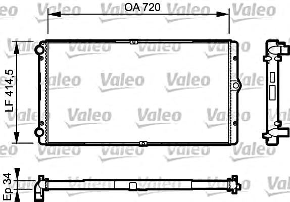 Engine Cooling Radiator VALEO Fits VW Transporter