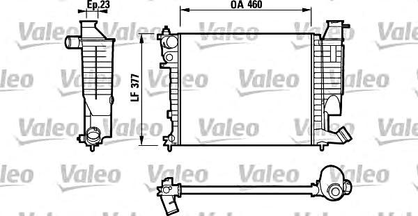 VALEO Engine Cooling Radiator Fits CITROEN Xsara Zx