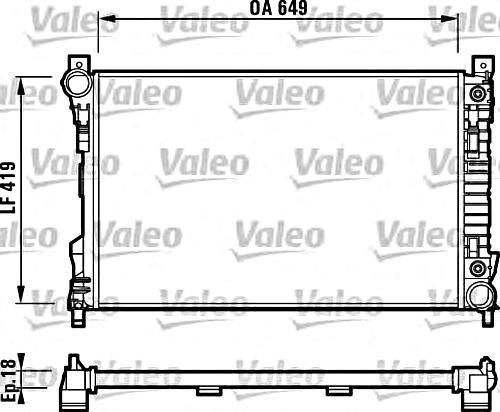 Engine Cooling Radiator VALEO Fits MERCEDES W203 S203
