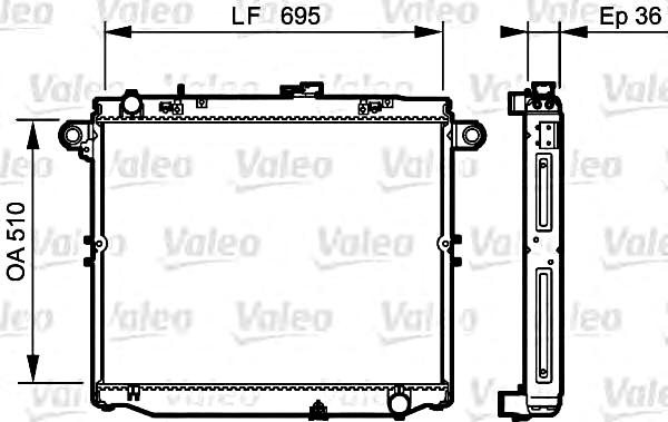 VALEO Engine Cooling Radiator 734191 Fits TOYOTA Land