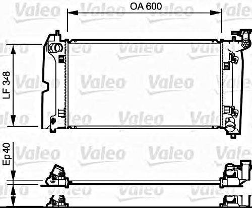 VALEO Engine Cooling Radiator Fits TOYOTA Altis Avensis
