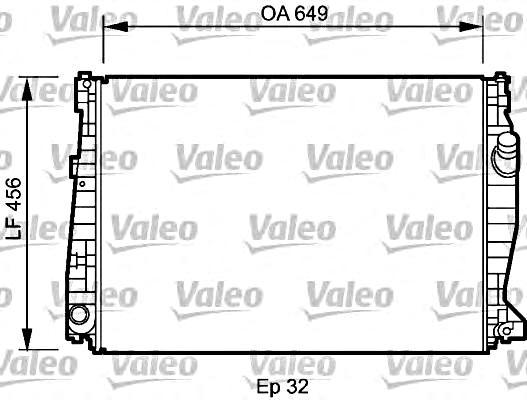 VALEO Engine Cooling Radiator Fits ALFA ROMEO 159 Brera
