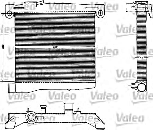 VALEO Engine Cooling Radiator Fits FIAT 127 Fiorino FSO