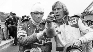 lauda - Niki Lauda with James Hunt - Lauda determined to the end