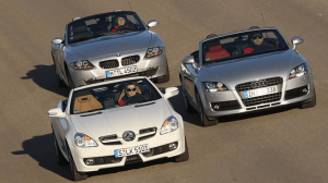 Audi-TT-Mercedes-Benz-SLK-BMW-Z4-German-luxury-roadsters-second-generations