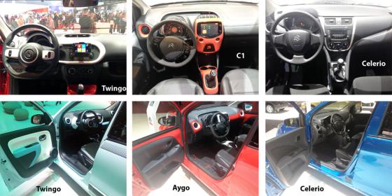 Renault-Twingo-Citroen-C1-Suzuki-Celerio-interiors-Geneva-Auto-Show-2014
