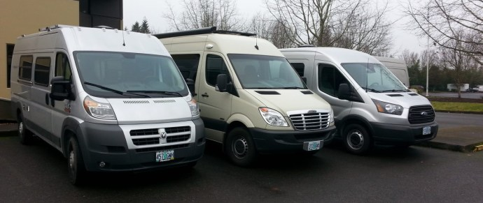 US full-size cargo vans