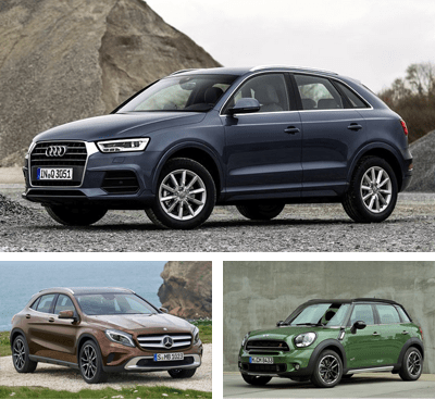 Compact_Premium_Crossover-segment-European-sales-2015-Audi_Q3-Mercedes_Benz_GLA-Mini_Countryman