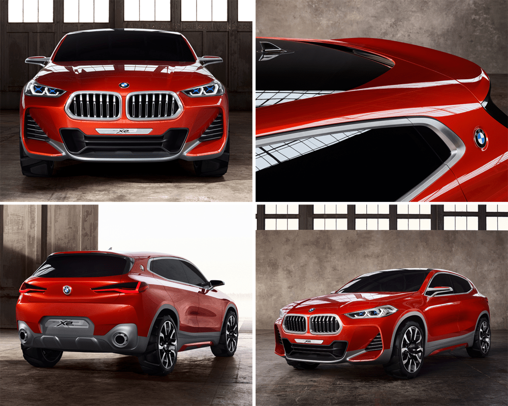 bmw x2 concept paris auto show premiere. Black Bedroom Furniture Sets. Home Design Ideas