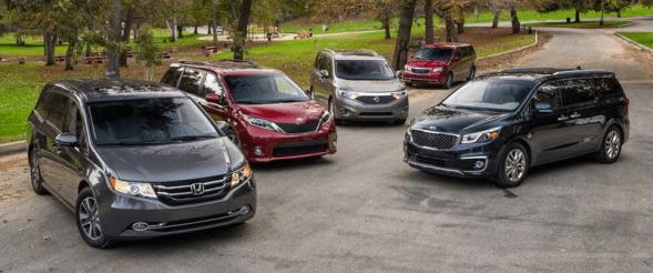 US-sales-minivan-segment-2016-Honda_Odyssey-Toyota_Sienna-Kia_Sedona-Nissan_Quest-Dodge_Grand_Caravan