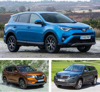 Midsized-crossover-segment-European-sales-2017-Toyota_RAV4-Nissan_X_Trail-Skoda_Kodiaq