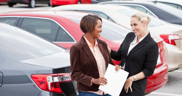 the car sales woman