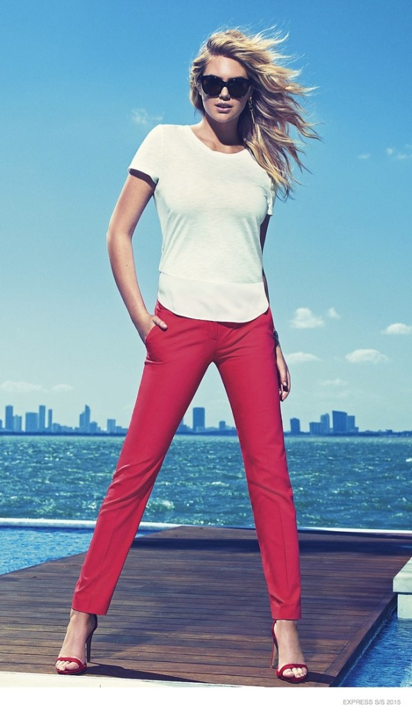 Kate Upton Express Ad Campaign ss 2015 7