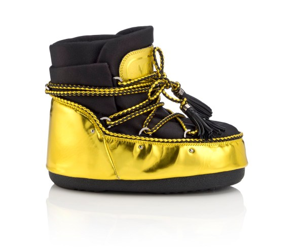 Jimmy Choo MB BUZZ- MIRROR LEATHER SHINY FABRIC- ACID YELLOW BLACK (2)