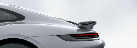 Porsche 911 Turbo S: Porsche Active Aerodynamics (PAA): rear wing retracted