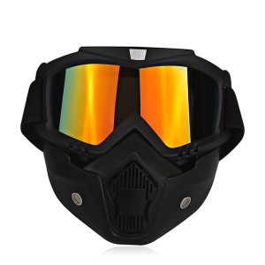 Motorcycle Protective Goggles with Detachable Face Mask