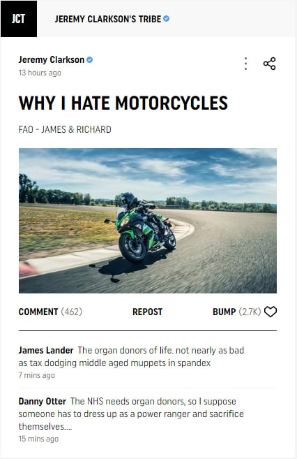 Drivetribe Why I Hate Motorcycle Tribe