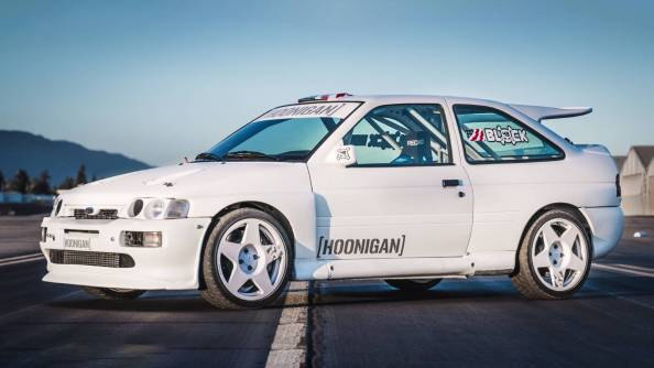 Ford Escort Cosworth Ken Block Hoonigan Drift Donuts Party