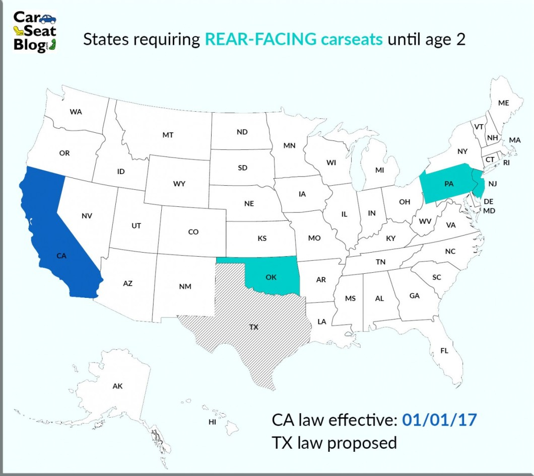 California Child Safety Seat Laws Rear Facing Wallseat Co