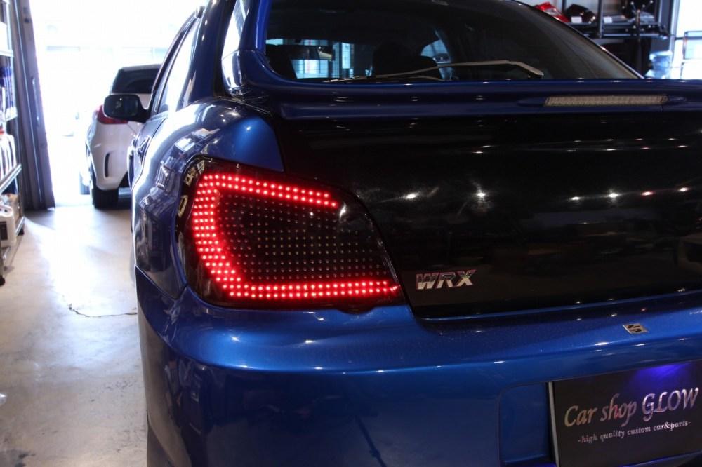 medium resolution of car shop glow subaru impreza gda gdb custom led tail lights ver 1 smoked flowing turn signal