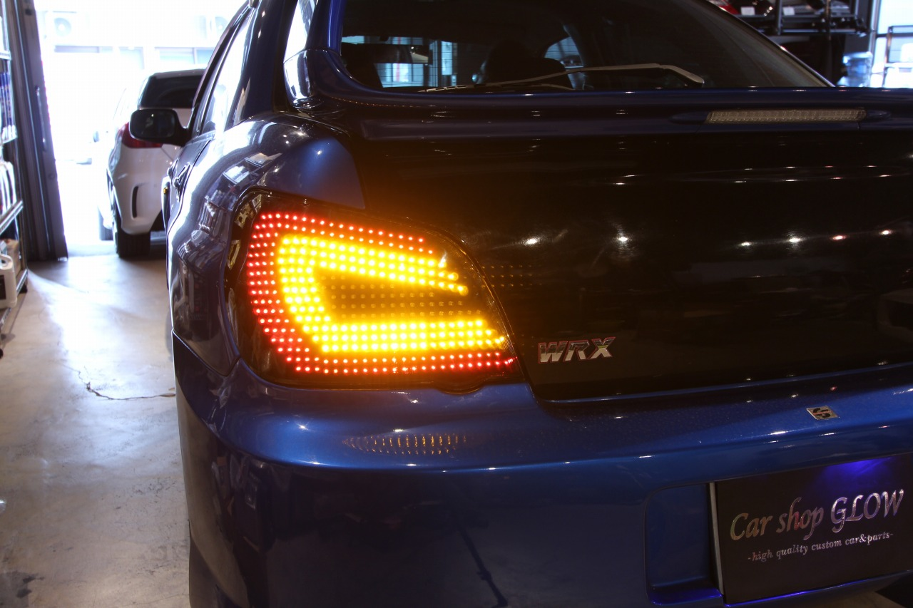 hight resolution of car shop glow subaru impreza gda gdb custom led tail lights ver 1 smoked flowing turn signal
