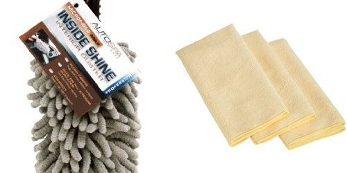 51LJht2AWaL - Carrand 97372AS AutoSpa Interior Car Detail Duster with 3 AmazonBasics Thick Microfiber Cleaning Cloths