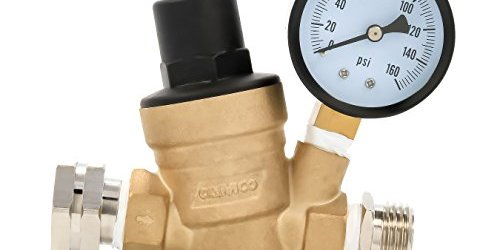 4143FH5KZrL - Camco 40058 Adjustable Brass Water Pressure Regulator