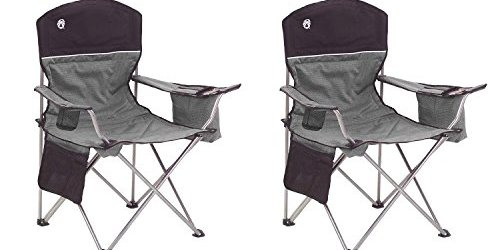 41EYfcrvcsL - Coleman Oversized Black Camping Lawn Chairs + Cooler, 2-Pack | 2000020256