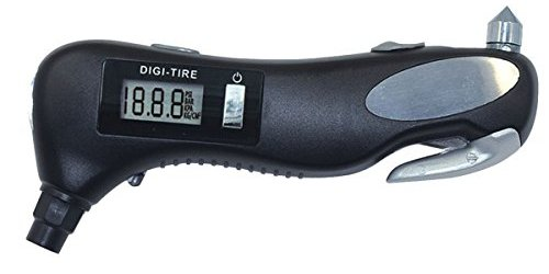 41SvNQbW22L - iMagitek Digital Tire Pressure Gauge Monitor with Safety Hammer, Flashlight, Seatbelt Cutter, Red Safety Light - 5 in 1 Rescue Emergency Tool for Car, Motorcycle and other Vehicle