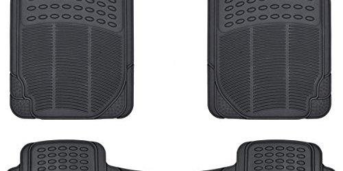 51VobKc99pL - BDK Front and Back ProLiner Heavy Duty Rubber Floor Mats for Auto, 3 Piece Set