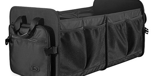 513ruOnLv L - Foldable Cargo Trunk Organizer Washable Waterproof Storage with Reinforced Handles - Bonus Car Cooler - by MIU COLOR
