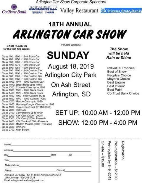 South Dakota Car Show, car shows and automotive events