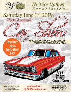 19th Annual Uptown Whittier Car Show @ The Whittier Uptown Association | Whittier | California | United States